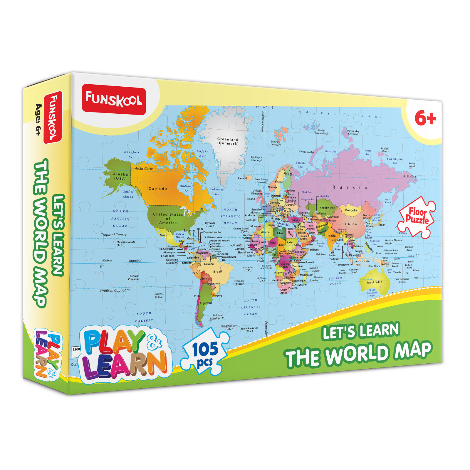 Let's Learn World Map Puzzle