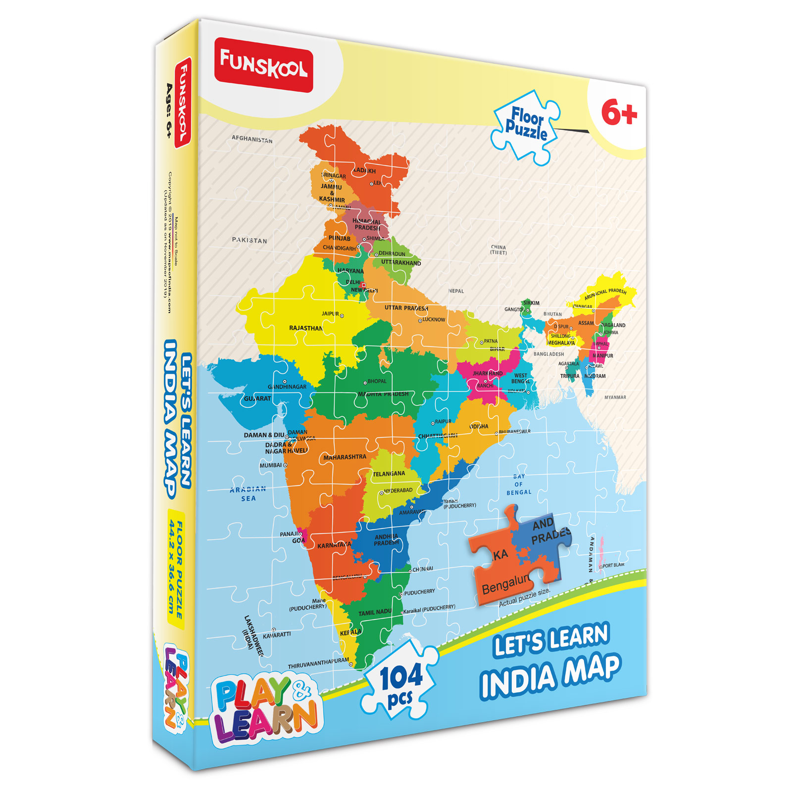Let's Learn India Map Puzzle