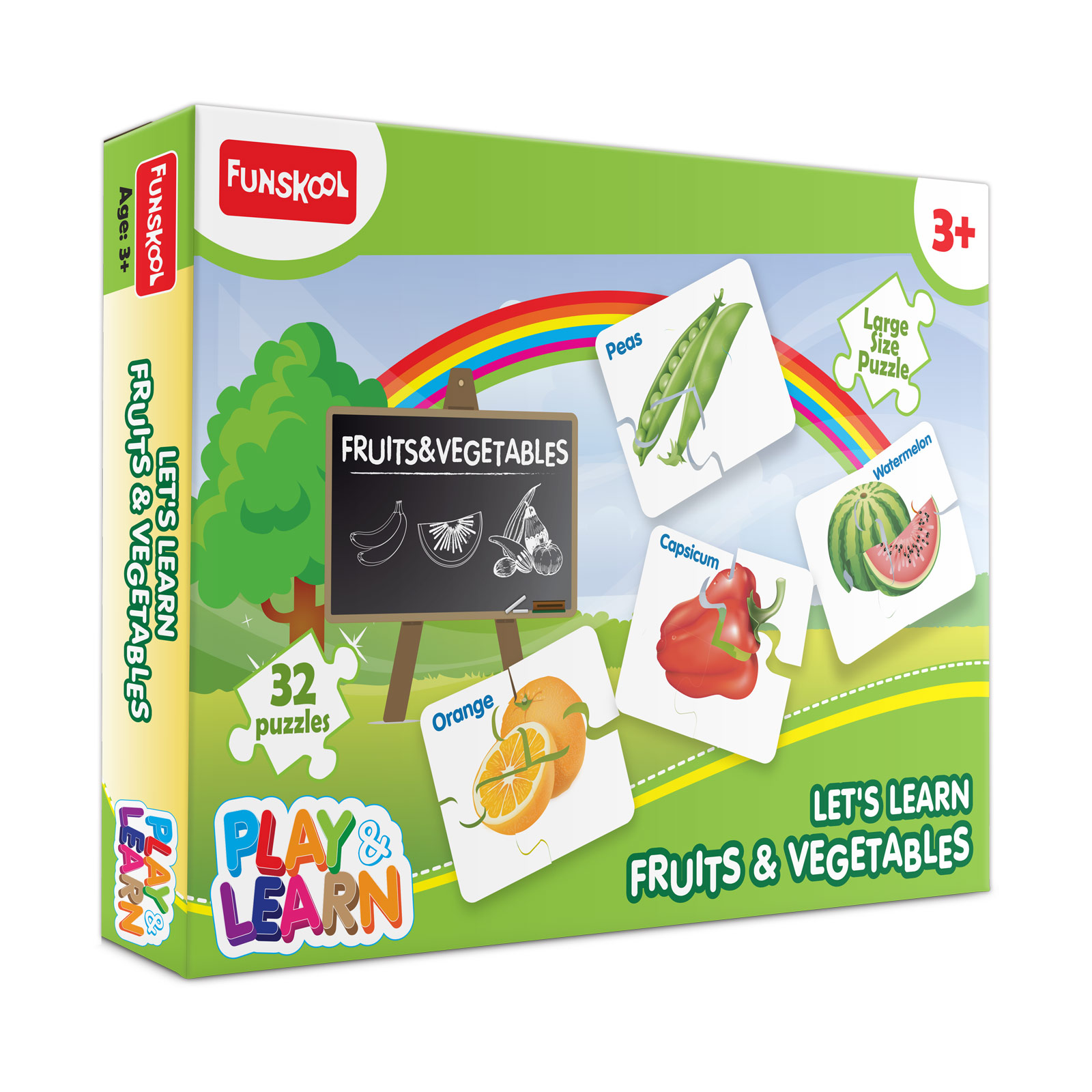 Let's Learn Fruits & Vegetables Puzzle