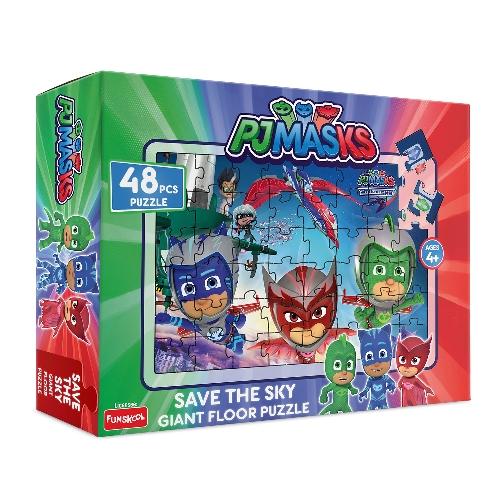 PJ Masks Save the Sky Giant Floor Puzzle